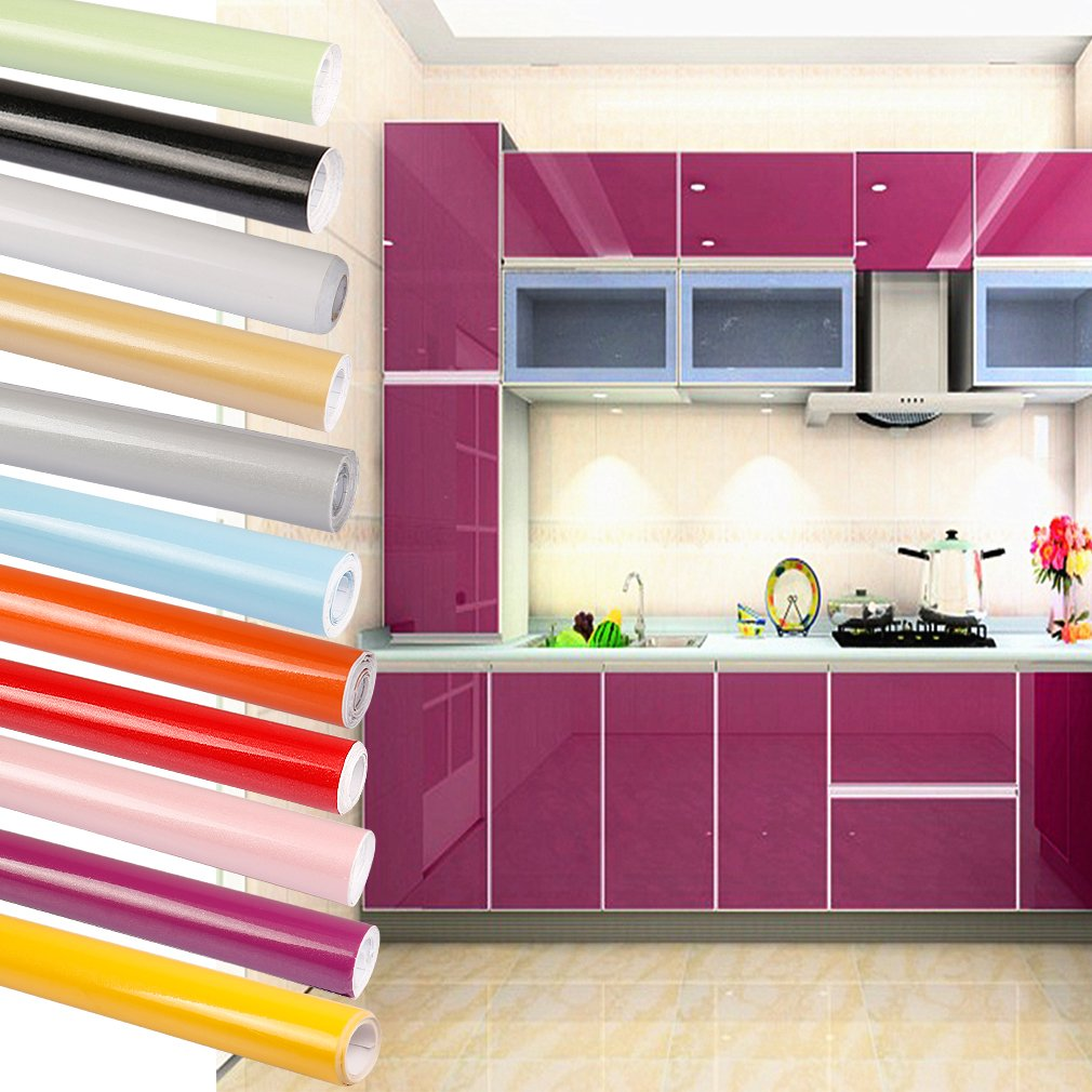 Papier adhesif pour frigo cheap m gris papier peint for Stickers pour meuble