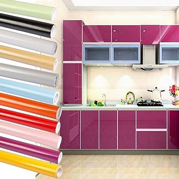 2 Rollen WillGou 5 x 0.61 M/Rolle Klebefolie Küche Schrankfolie PVC ...