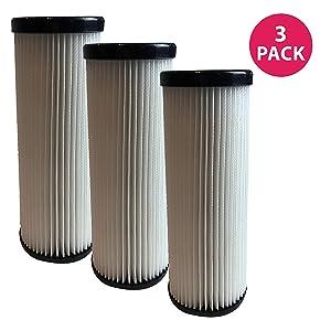 Crucial Vacuum Replacement Vacuum Air Filters Compatible with Dirt Devil F1 Vacs Parts 3-JC0280-000, 1-863118-000 - Fits Vacuum Cleaner Models Scorpion, Jaguar - HEPA Style, Bulk (3 Pack)