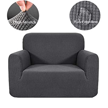 Hebe Stretch Couch Slipcover Waterproof Couch Cover 1 Piece Individual Chair Covers Dog Cat Pet Proof Sofa Chair Slipcovers Furniture Protectors Stay