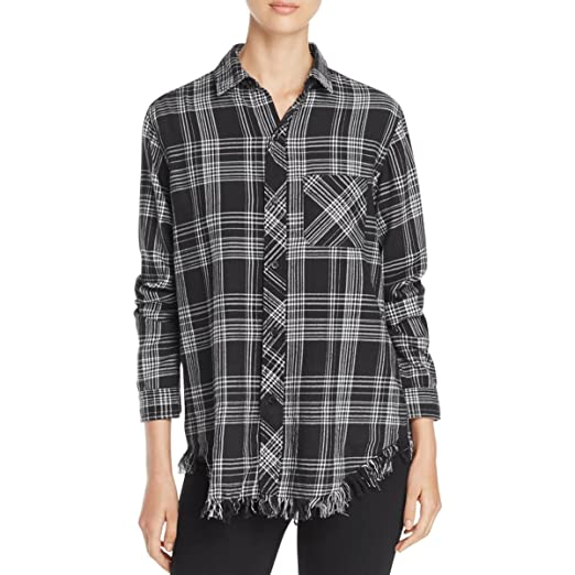 0814391f9d Image Unavailable. Image not available for. Color: Beach Lunch Lounge  Womens Plaid Button Up Shirt ...