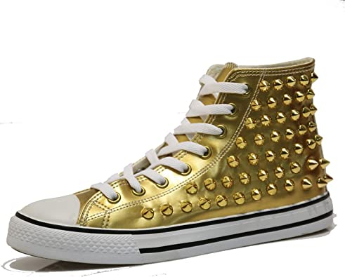 shiny high top sneakers