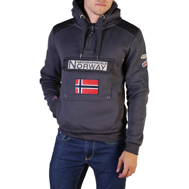 Colore Blu Geographical Norway Gymclass007 Man Felpa da Uomo
