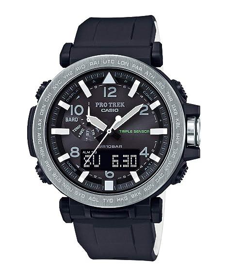 8b6ff25a4a01 Casio Reloj Analógico-Digital para Hombre de Energía Solar con Correa en  Plástico PRG-650-1ER  Amazon.es  Relojes