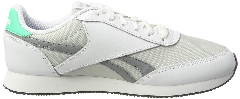 Reebok Royal Classic Jogger 2, Zapatillas para Mujer, Blanco (White/Skull Grey/Flint Grey/Bright Emerald/Black), 37 EU