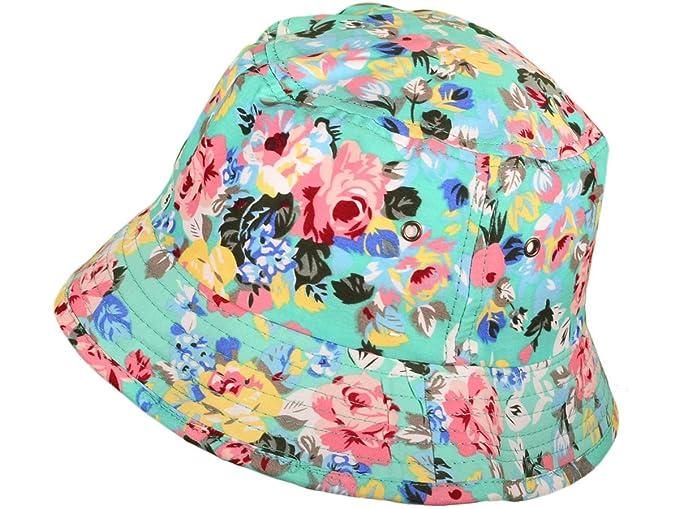 6b00c6d4511 Amazon.com  BK Caps Flower Bucket Hats Caps (Turquoise Size  M L) - 3434   Books