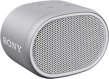 Sony Srs Xb01 Tragbarer Bluetooth Lautsprecher Extra Bass 6h Akku Spritzwassergeschützt Grau Audio Hifi