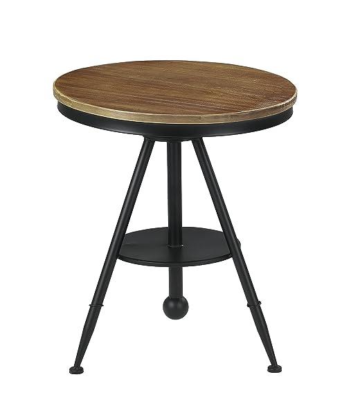 Charming VILAVITA 24.4u0026quot; To 28.4u0026quot; Adjustable Height Swivel Round Wood  Bistro Table, Wooden Top