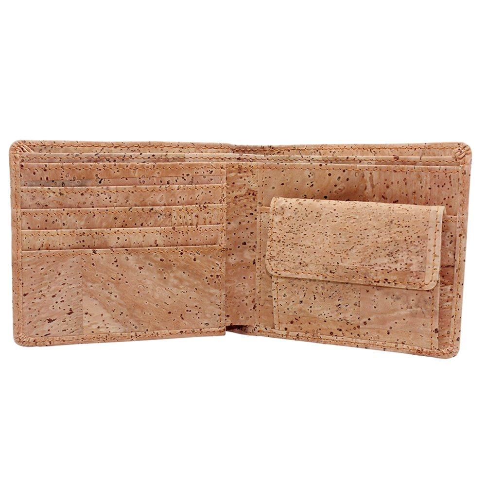 Boshiho RFID Blocking Cork Wallet Slim Bifold Vegan Coin Purse Eco Friendly Gift BOSHIHO-CORK-WALLET-38