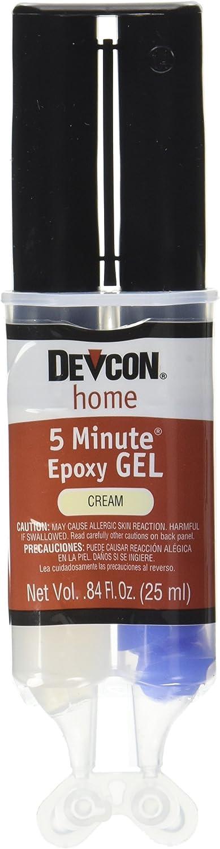 Devcon 21045 5 minute gel epoxy cream colored 25 milliliter