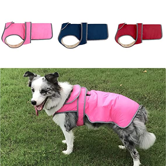 Amazon.com : BingYELH Dog Coats Winter Puppy Warm Fleece Jacket Clothes Windproof Doggy Vest Magic Tape Dog Sweater Pet Apparel Sweatshirt : Pet Supplies