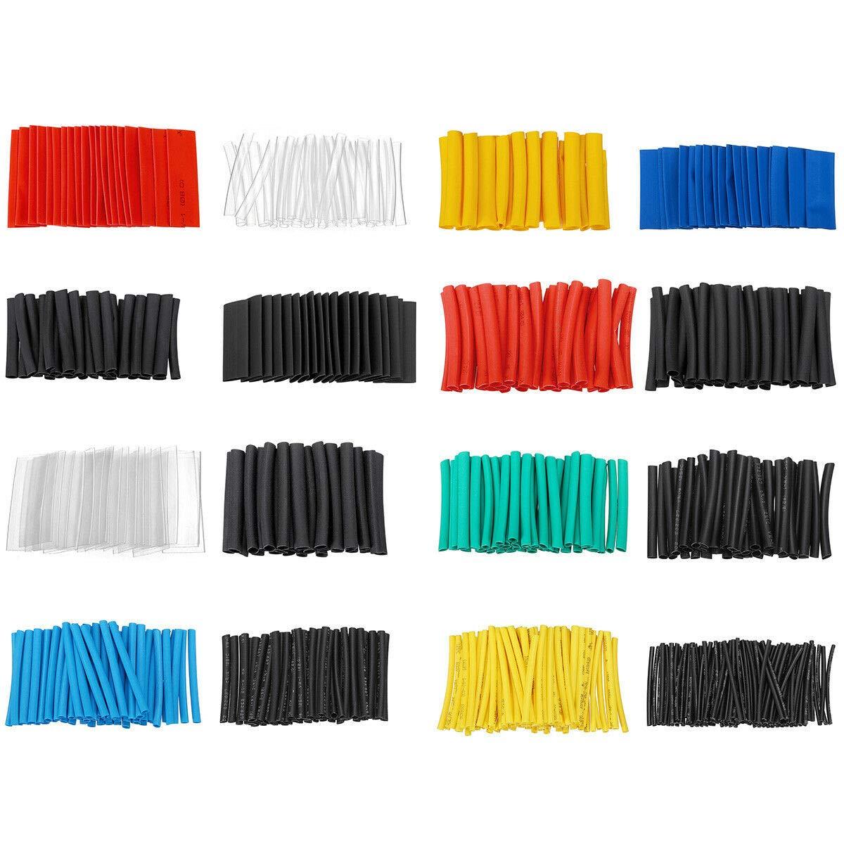 Kabel-Set Schrumpfschlauch-Set Schrumpfschlauch-Verpackung 580 St/ück elektrische Isolierung 5 Farben 16 Spezifikationen