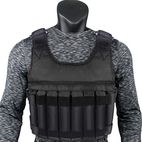 Amazon com : YHG Weight Vest with Shoulder Pads and 16 PCS