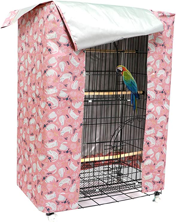 iplusmile Large Bird Cage Cover Parrot Sleeping Cage Cover Thicken Parrot Cage Protector Night Bird Cage Cloth Cover