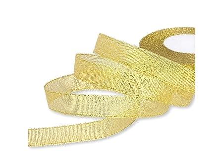 *** GOLD ORGANZA /& SATIN 16mm Wide ** Ribbon
