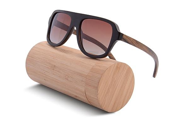 SHINU HACHATE Preto Woody Sonnenbrillen übergroßen Sonnenbrillen Retro Polyarized6043 (gradient brown) IPI8293P3