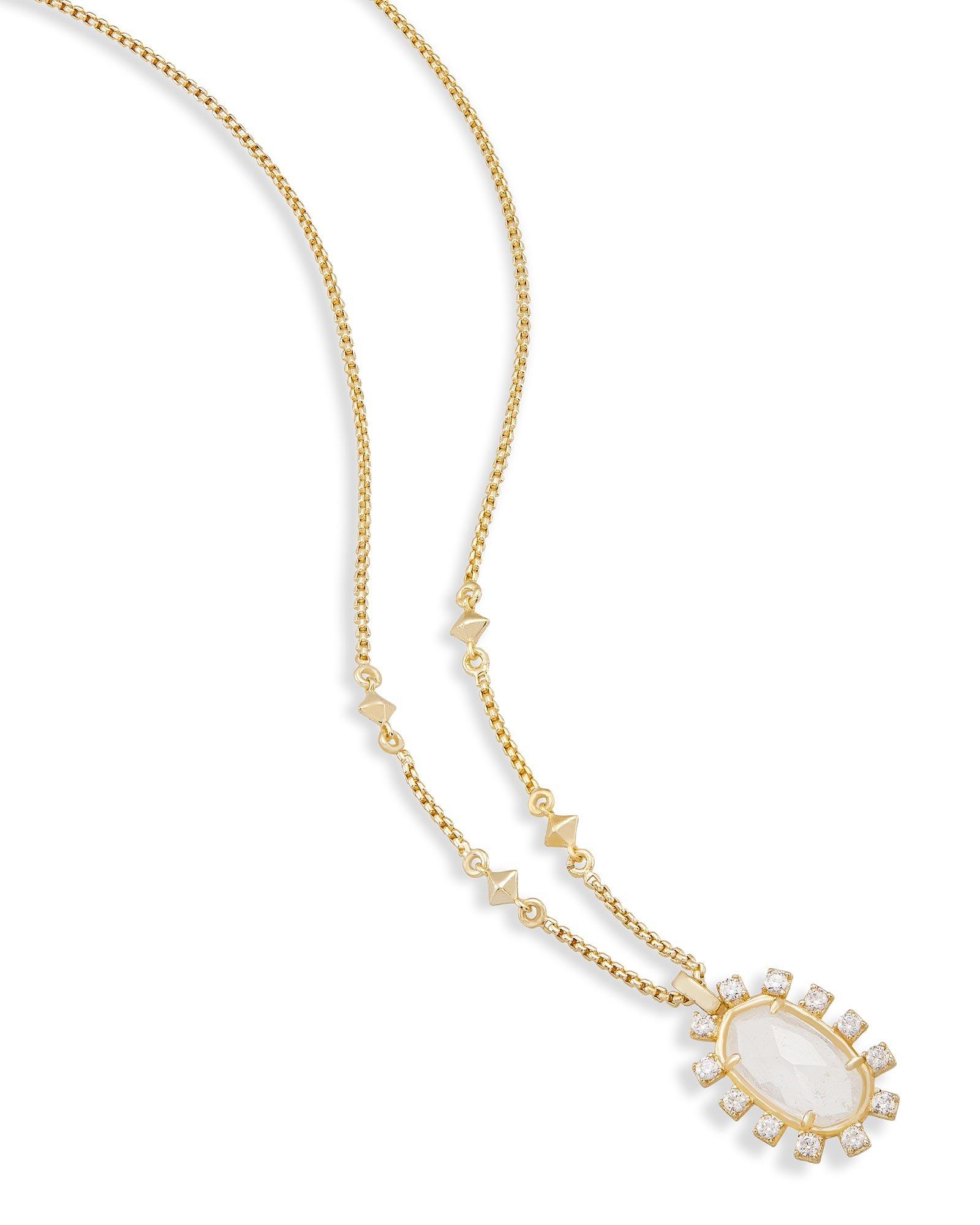 Kendra Scott Brett Pendant Necklace In Rock Crystal
