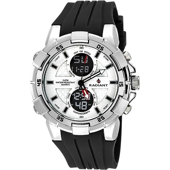 Reloj Radiant hombre Powertime White Black RA458603 [AB9308] - Modelo: RA458603: Amazon.es: Relojes