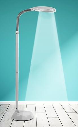 Kenley Lámpara de Pie - Luz del Dia Natural para Lectura - Iluminación de Interior, Salón y Dormitorio - Bombilla Fluorescente de 27 W