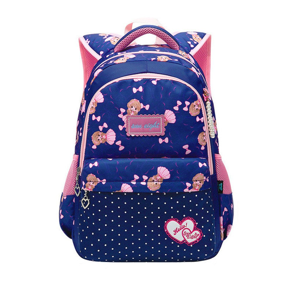 Fanci Polka Dot Primary Kids School Backpack Bookbag Nylon Elementary School Book Bag 4052-10 cow