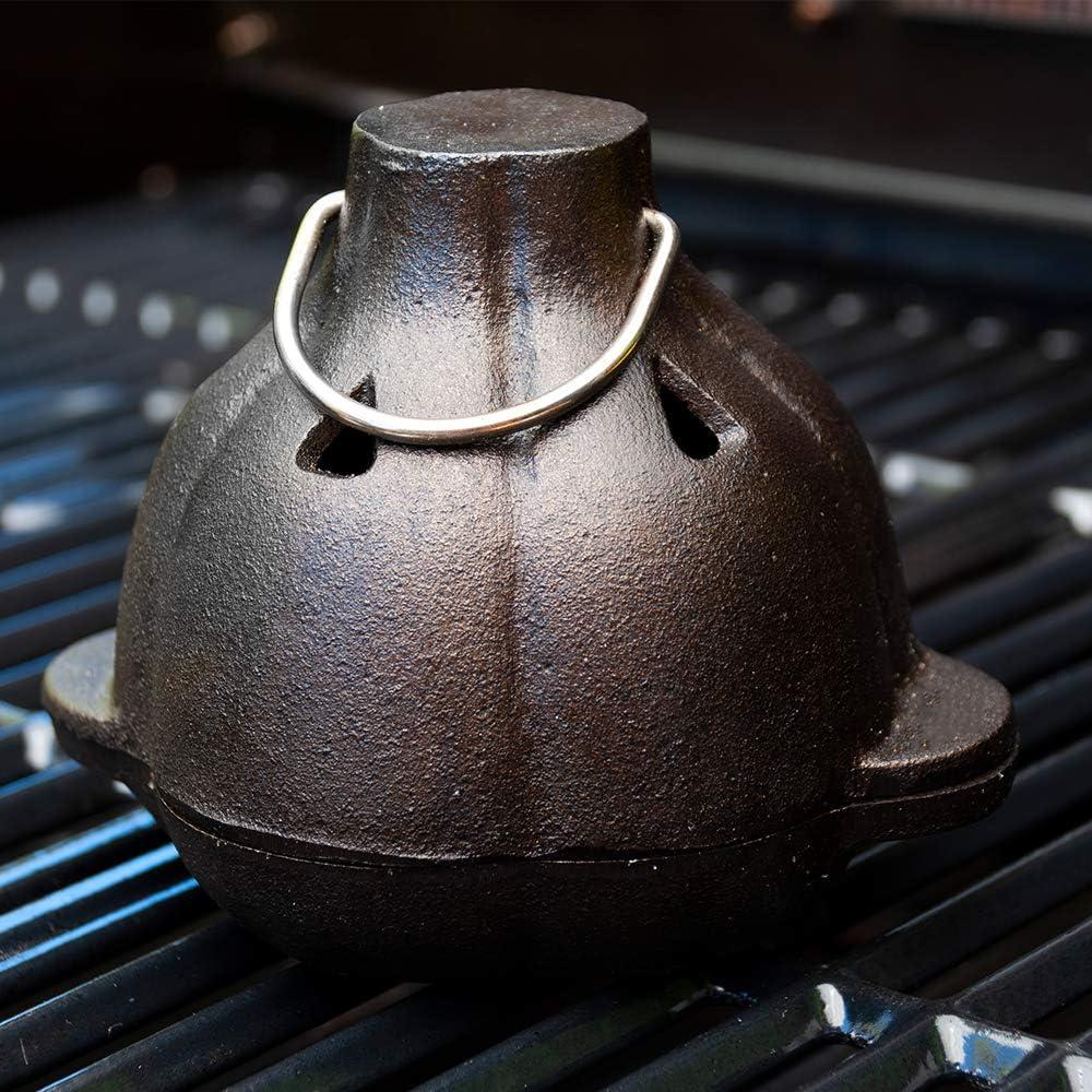 13.34 x 13.34 x 13.49 cm CC5127 juego de hierro fundido Asador de ajo y prensa de ajo Charcoal Companion negro