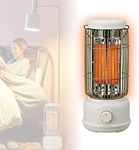Radiant Tower Heater,Portable Electric Heater,Fast Heat,Low Noise,Dump Power Off for Home Office,Electric Room Heater with Adjustable Thermostat Small Heater
