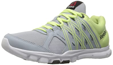 reebok yourflex trainette. reebok women\u0027s yourflex trainette 8.0 l mt cross-trainer shoe, cloud grey/lemon w