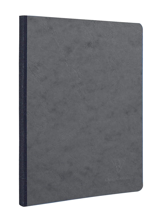 Clairefontaine 792401C AgeBag Notizbuch (19 x 25 cm, 96 Blatt, blanko, bedruckten Vorsatublättern) 1 Stück schwarz