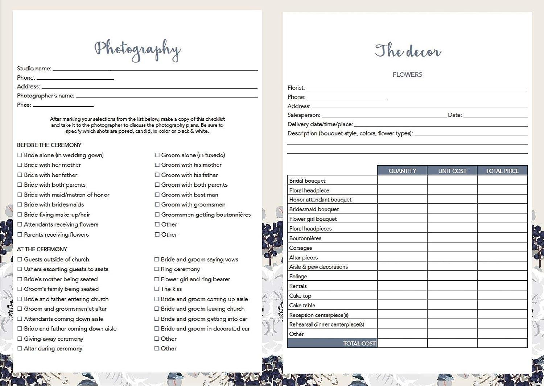 Personalised Wedding Planner Organiser
