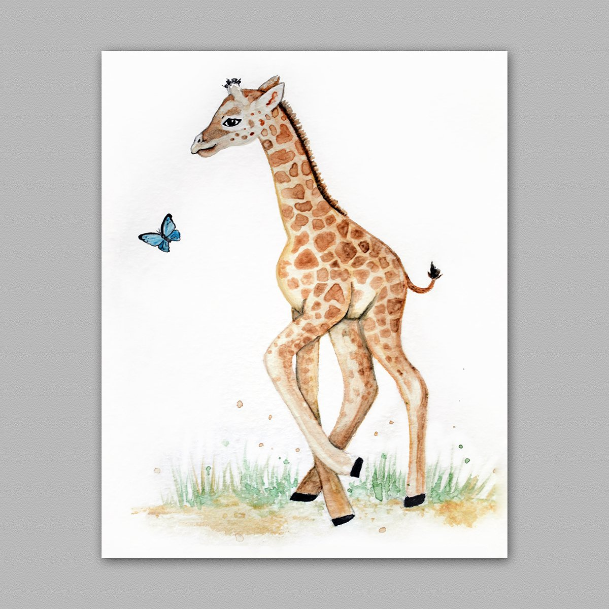 Giraffe Art Nursery Painting