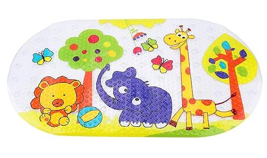 para ni/ños Antideslizante 38 x 70 cm para Masaje dise/ño de Zoo Tebery Alfombrilla de ba/ño para beb/é