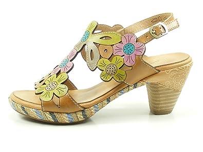 Laura Vita SD328-88 Belfort 88 Schuhe Damen Sandalen Sandaletten, Schuhgröße:38;Farbe:Pink