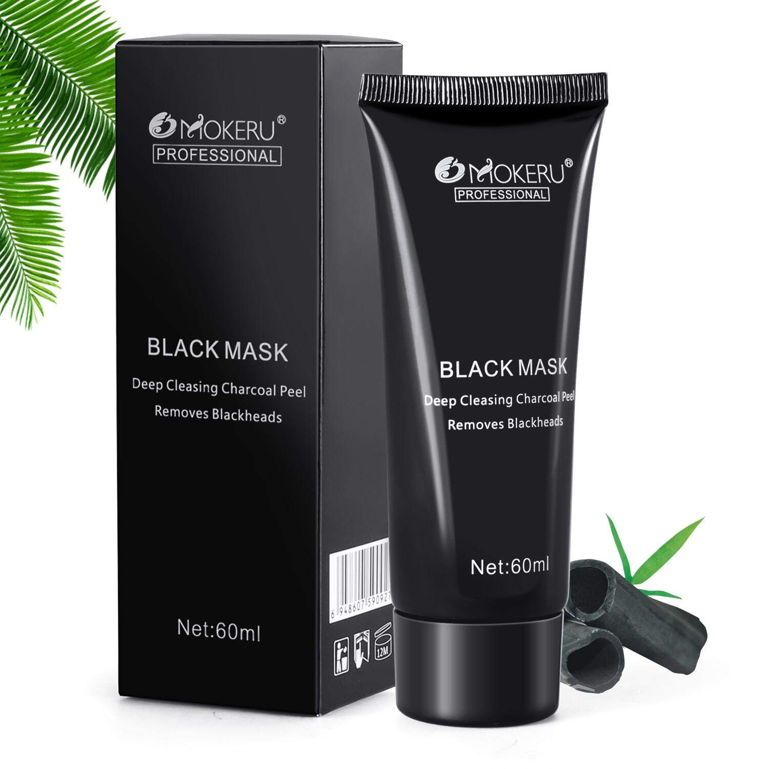 Black Head Mask, Blackhead Remover Mask, Charcoal Blackhead Peel Off Removing Deep Skin Cleansing MYPAI