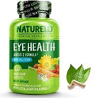 NATURELO Eye Vitamins - AREDS 2 Formula with Lutein, Zeaxanthin, Natural Vitamin...