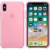 Capa Iphone X Silicone Case Rosa