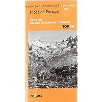 Mapa picos de Europa - zona sur - macizo occidental o cornion (Top 25 (prames))