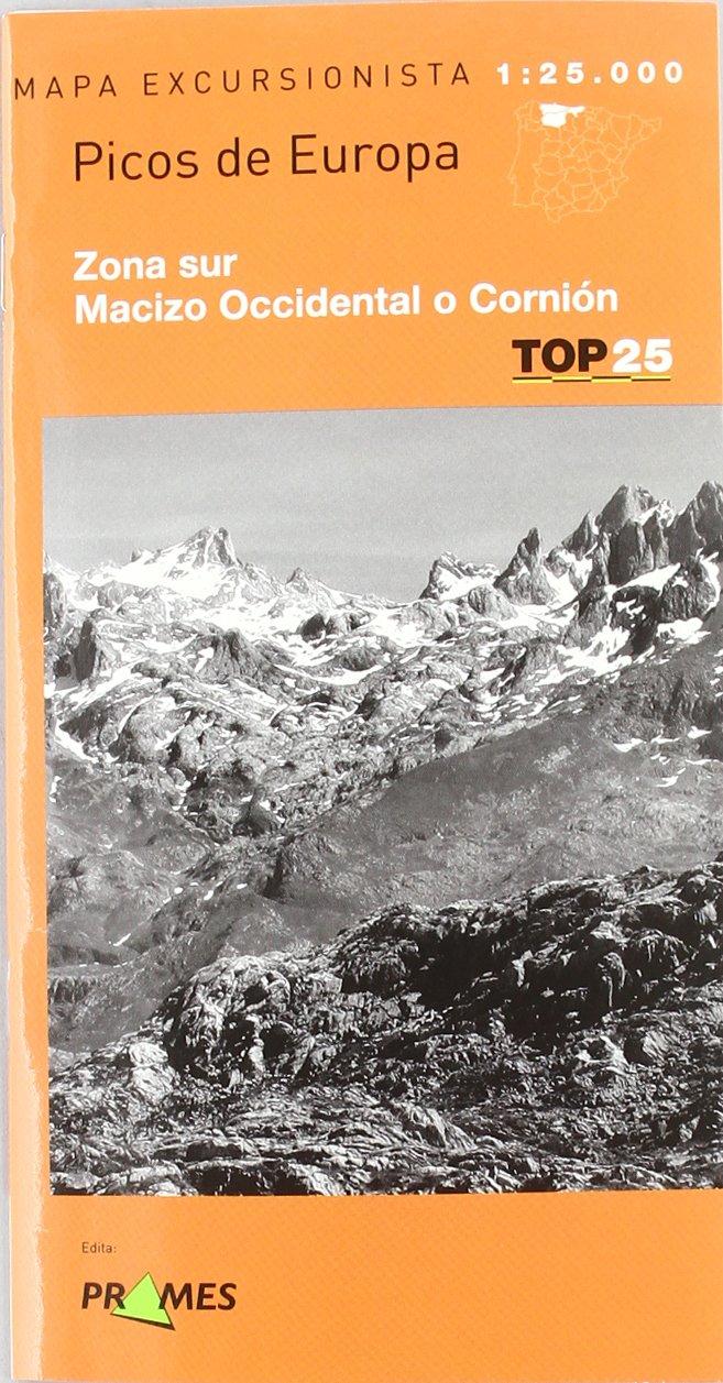 Mapa picos de Europa - zona sur - macizo occidental o cornion Top 25 prames: Amazon.es: Aa.Vv.: Libros