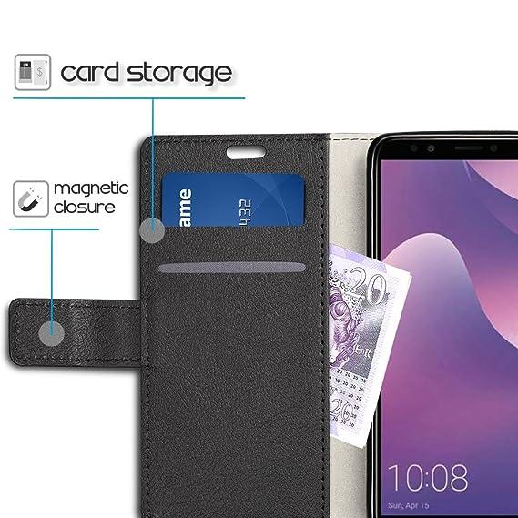Amazon.com: Huawei Y6 2018 Case - SLEO Luxury Slim PU ...