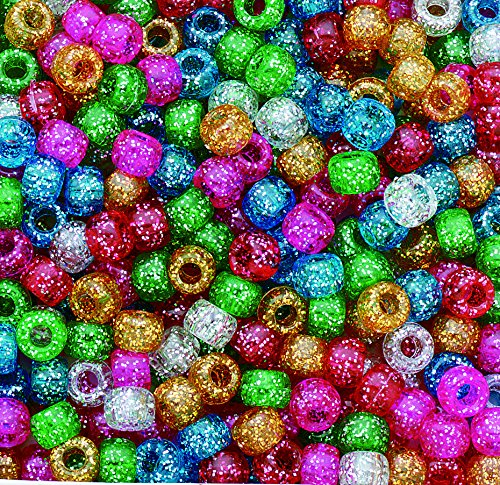 Assorted Sparkle Pony Beads, (Pack of 900)