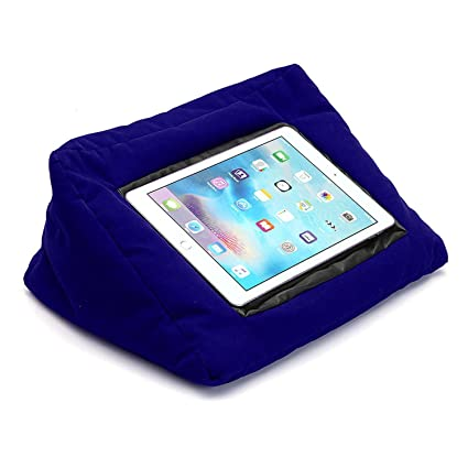 Padpillow Reading Stand Cushion Holder For Ipad Tablets E Readers And Books At Home Bed Desk And Travel Blue
