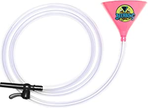 Premier Beer Bong Funnel - With Valve - 10 Feet Of No Kink Tubing! Food Grade, Holds 40 Ounces, You Pick From 7 Colors! (Pink)