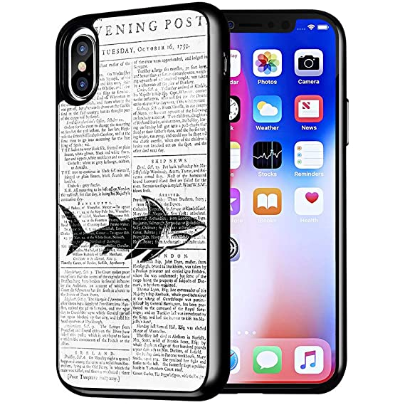buy online 9a4e3 9a96d Shark Covers for iPhone X/iPhone Xs,Casililor [TPU] [Anti-Slip] Premium  Slim Protective Shark Case Cover Compatible for iPhone X/for iPhone Xs - ...