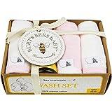 Burt's Bees Baby - Paño de limpieza orgánico en caja de regalo, Blossom, Una talla