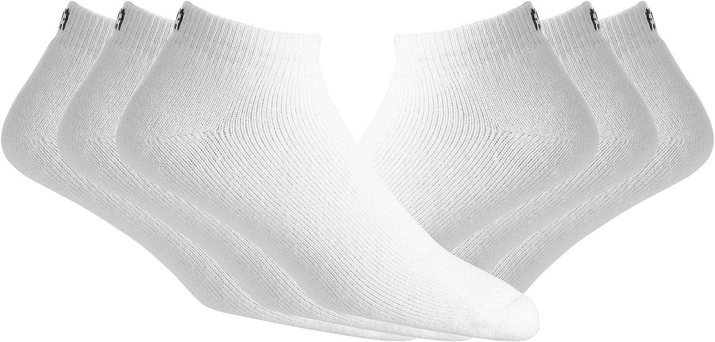 FJ Mens ComfortSof Quarter Socks-White-Size 7-12