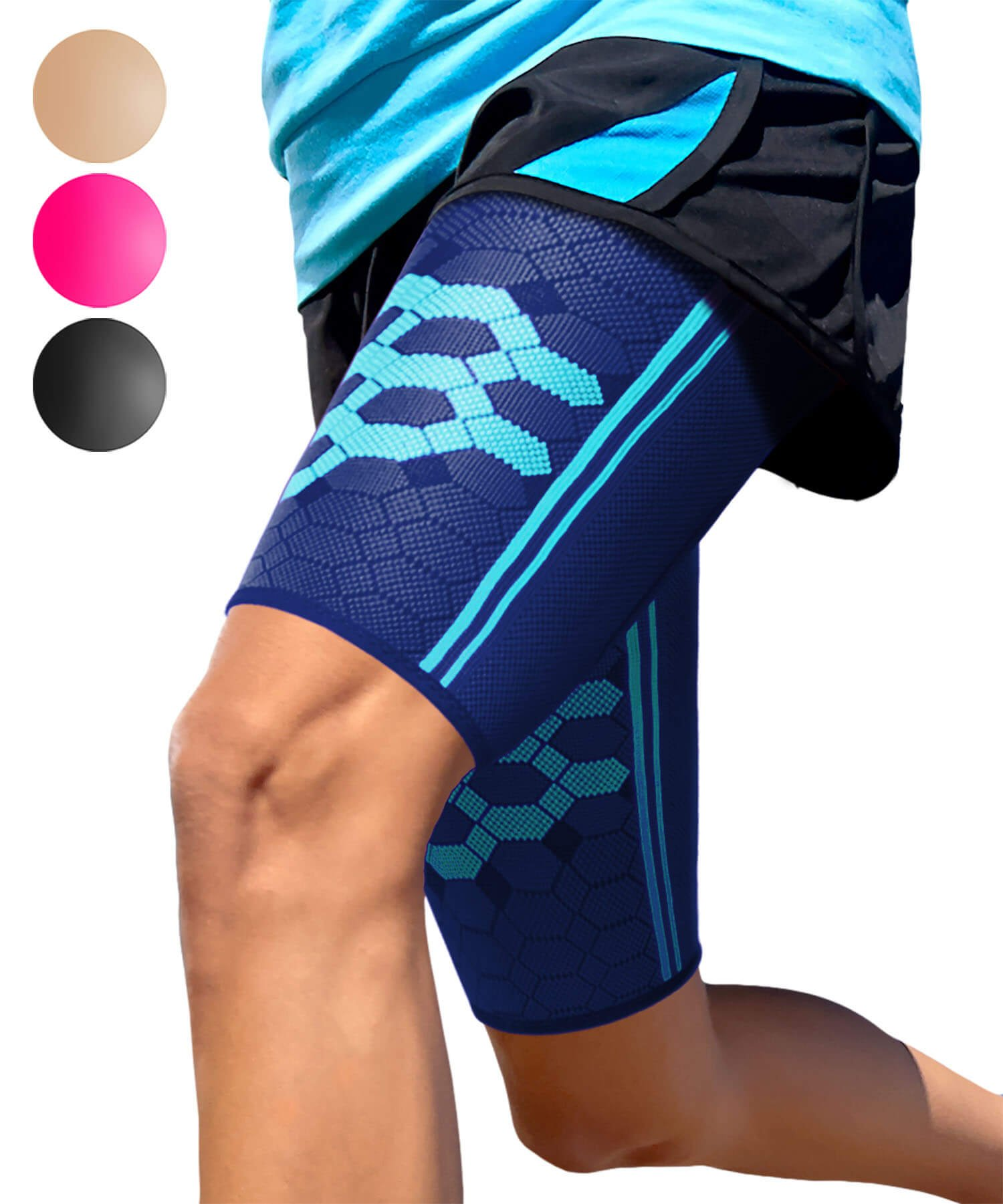 Thigh Support Compression Sleeve Cobalt Blue XL