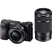 Sony Alpha A6100 Mirrorless Camera with 16-50mm and 55-210mm Power Zoom Lens | ILCE 6100Y with SELP1650 and SEL55210 Lens | 24.2MP | Exmor CMOS Sensor