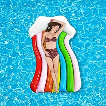 Piscina Inflable flotador Rainbow Clouds Gaint Piscina ...