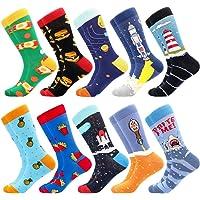 BONANGEL Calcetines de Vestir Divertidos, Coloridos Calcetines Para Hombres,Calcetines de Oficina de Algodón con…