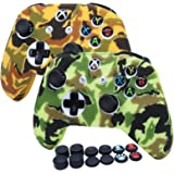 RALAN Controller Cover Silicone, Silicone Controller Cover Skin Protector Compatible for Xbox Ones Controller (Black Pro Thum