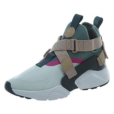 Nike Women's Air Huarache City Low Running Shoe (9.5, Barely Grey/Clay Green-Sand) | Fashion Sneakers